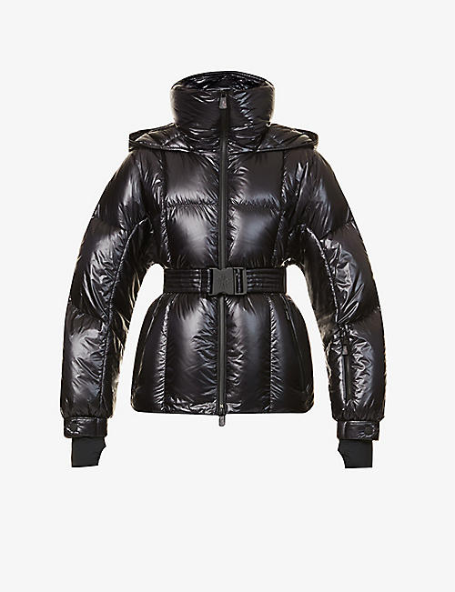MONCLER: Giubbotto belted shell-down jacket