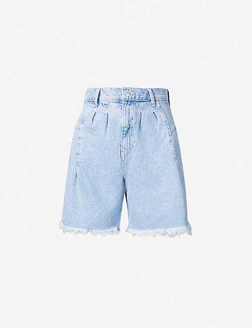 FREE PEOPLE: Venice high-rise denim shorts