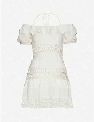 FREE PEOPLE: Cruel Intentions embroidered woven mini dress