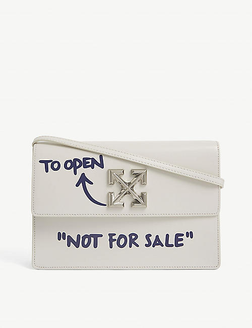 OFF-WHITE C/O VIRGIL ABLOH: Jitney 1.0 leather top handle bag