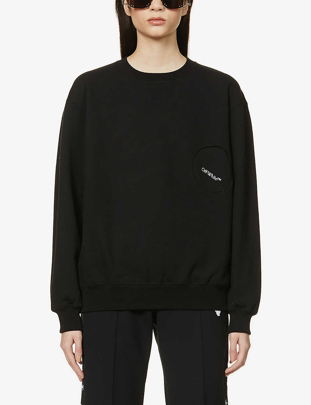 OFF-WHITE C/O VIRGIL ABLOH: Logo-embroidered cotton-jersey sweatshirt