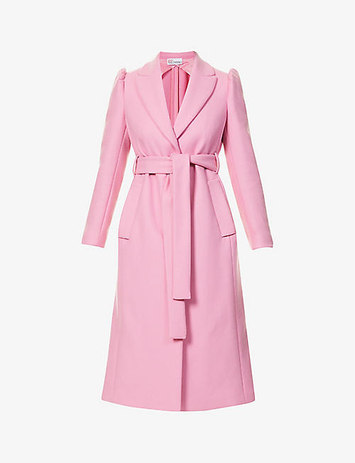 RED VALENTINO: Padded-shoulder wool-blend coat