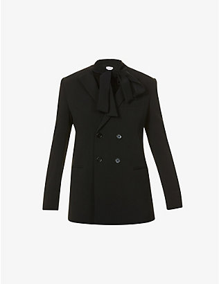 RED VALENTINO: Padded-shoulder stretch-woven blazer