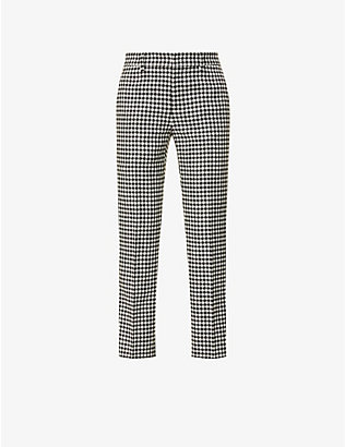 RED VALENTINO: Vichy gingham woven trousers