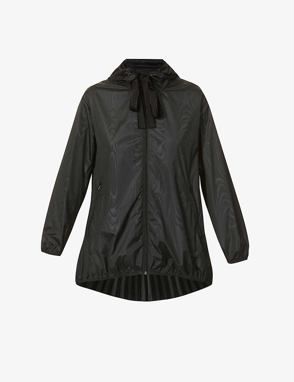 RED VALENTINO: Drawstring-hood pleated shell jacket