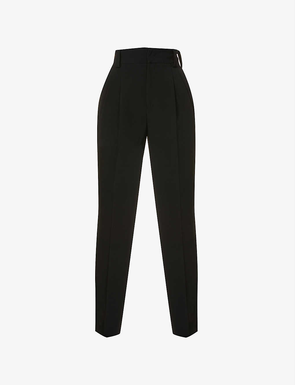 RED VALENTINO: Tapered high-rise stretch-crepe trousers