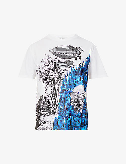 VALENTINO: Lost City graphic-print cotton-jersey T-shirt