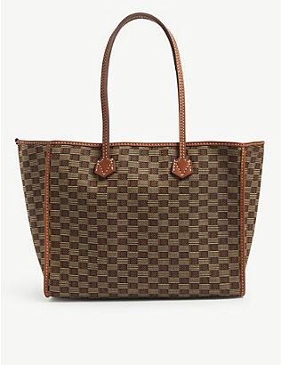 MOREAU PARIS: Celestin medium jacquard-embroidered tote bag