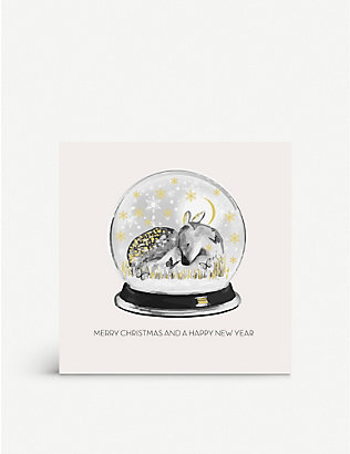 FIVE DOLLAR SHAKE: Snow Globe greetings card 17cm x 17cm