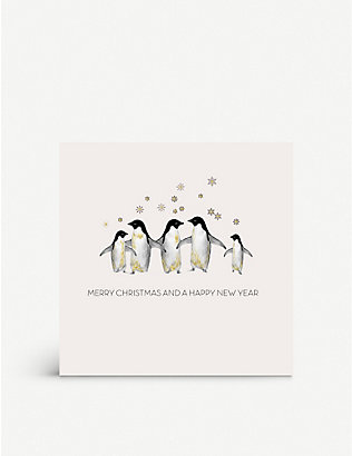 FIVE DOLLAR SHAKE: Box of 6 penguins boxed greetings cards 17cm x 17cm