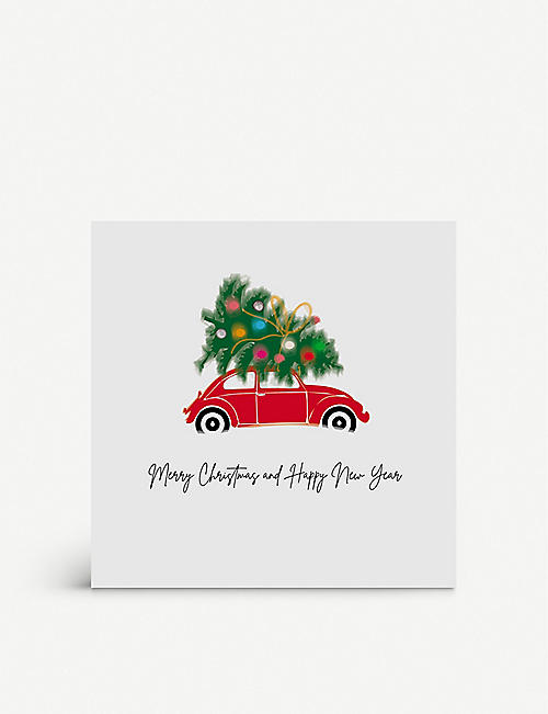FIVE DOLLAR SHAKE: Merry Christmas and Happy New Year boxed greetings cards 17cm x 17cm