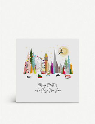 FIVE DOLLAR SHAKE: Box of 6 Merry Christmas and Happy New Year greetings cards 17cm x 17cm