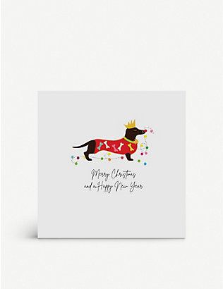 FIVE DOLLAR SHAKE: Merry Christmas and a Happy New Year greetings cards 17cm x 17cm