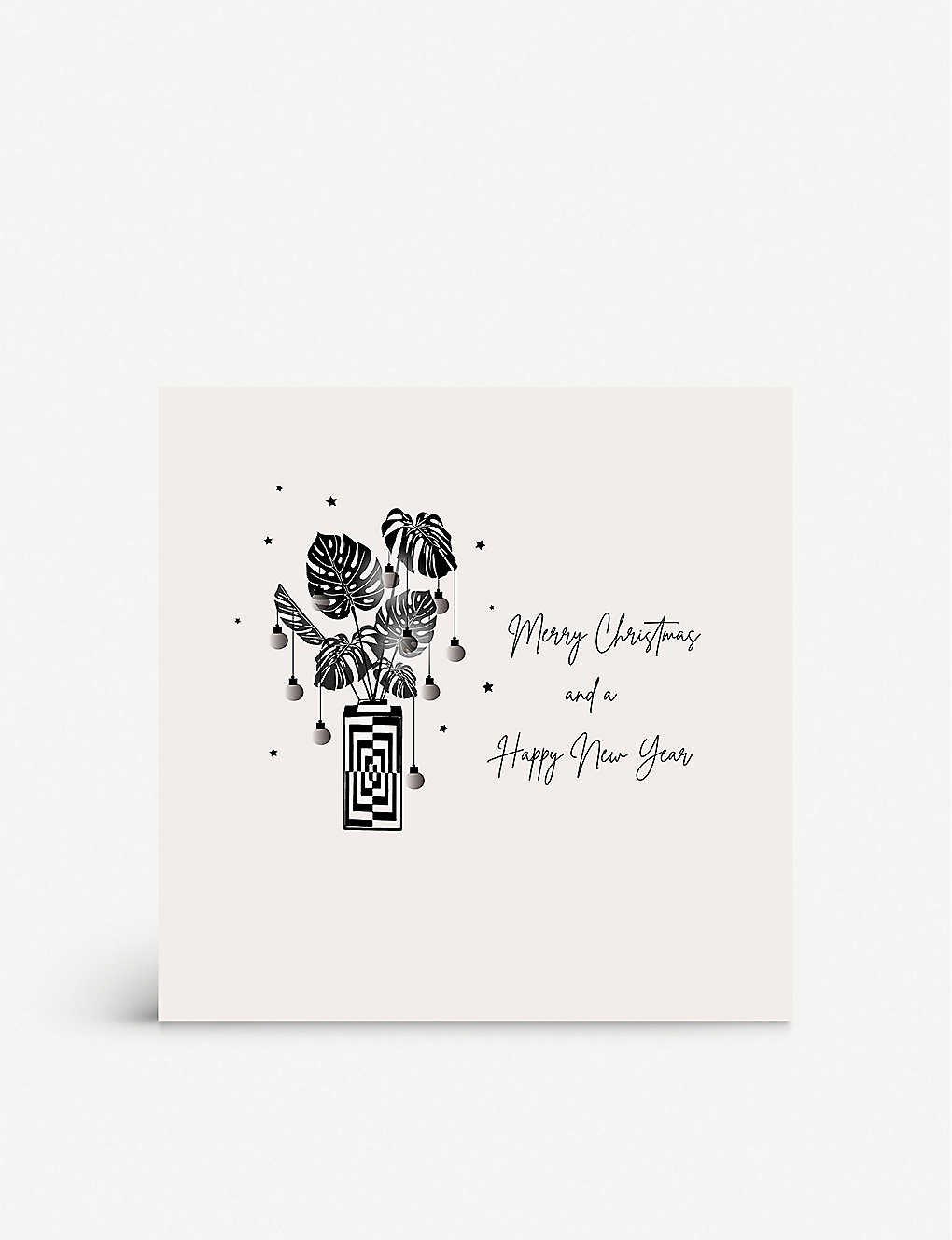 FIVE DOLLAR SHAKE: Festive Plant greetings card 17cm x 17cm