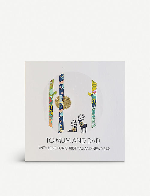 FIVE DOLLAR SHAKE: To Mum and Dad With Love For Christmas and New Year greetings card 17cm x 17cm