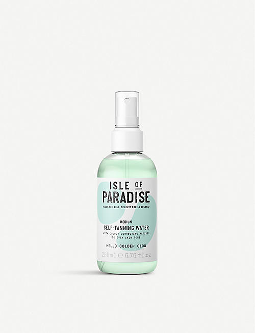ISLE OF PARADISE: Medium self-tanning water 200ml