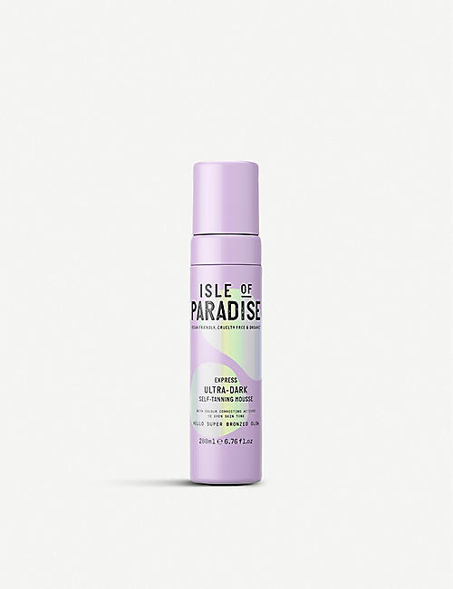 ISLE OF PARADISE: Express Ultra Dark self-tanning mousse 200ml