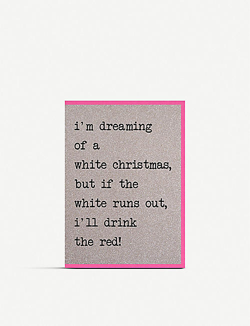 COUNTING STARS: I'm Dreaming of a White Christmas greetings card pack 15cm x 8.5cm