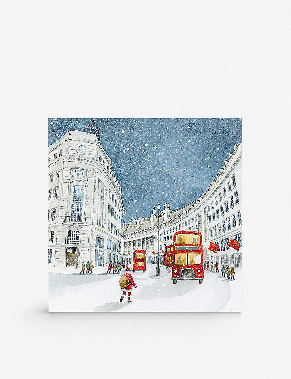 THE ART FILE: Pack of 6 London Red Bus charity greeting card 12.5cm x 12.5cm