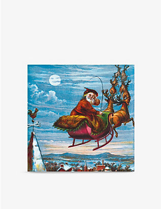 MUSEUMS + GALLERIES: Pack of 6 A Visit From St. Nicholas greetings cards 16cm x 16cm