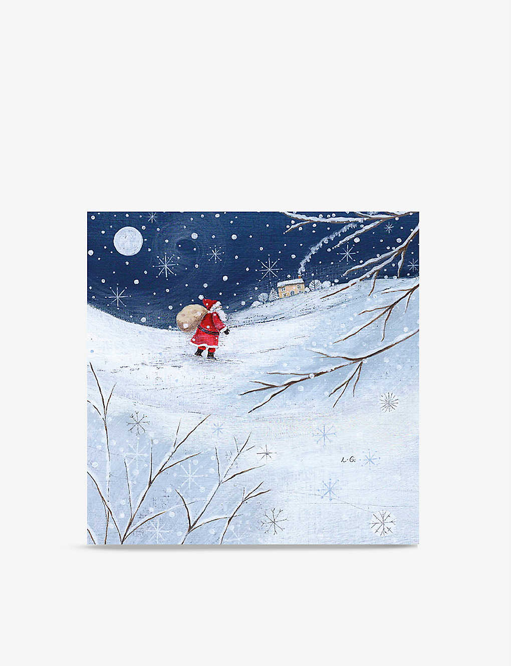 MUSEUMS + GALLERIES: Pack of 8 Father Christmas greetings cards