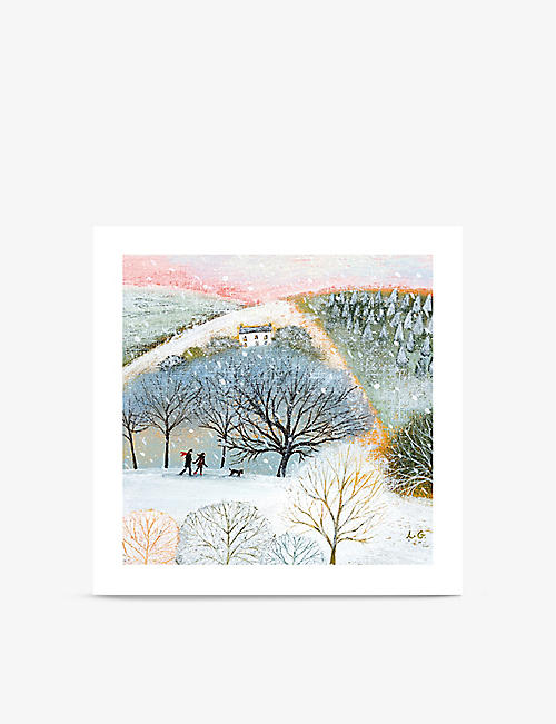 MUSEUMS + GALLERIES: Winter walkers-print greeting cards pack of eight