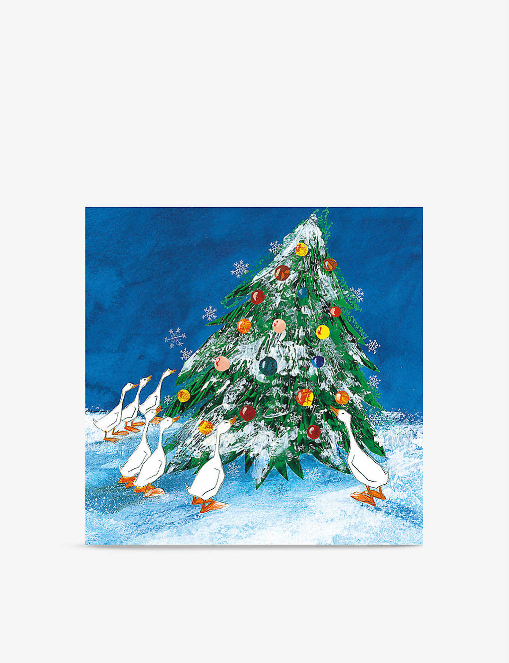 MUSEUMS + GALLERIES: Pack of 8 Tree-motif Christmas greetings cards 14cm x 14cm