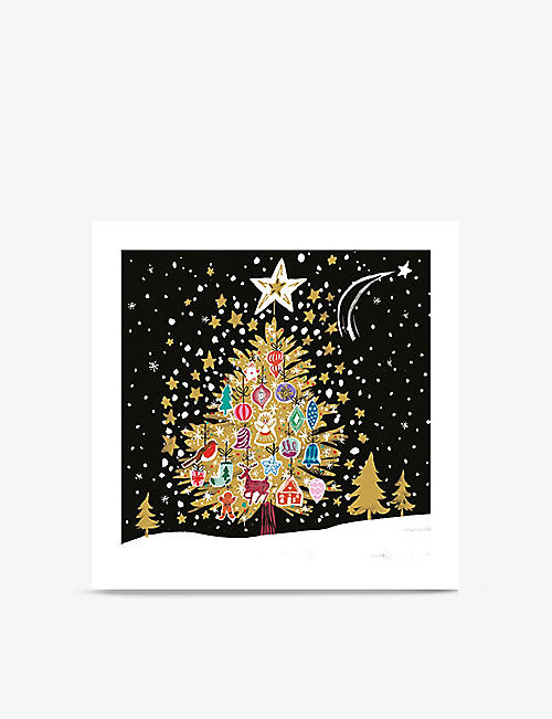 MUSEUMS + GALLERIES: Christmas Tree-motif greeting cards pack of eight
