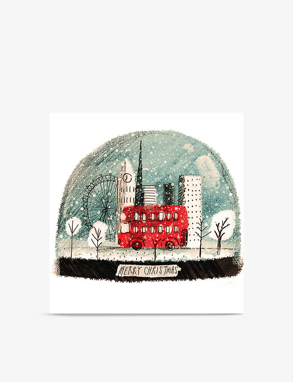 MUSEUMS + GALLERIES: Box of 8 London Snow Globe Christmas greeting cards