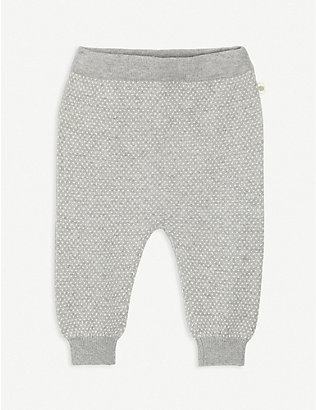BONNIE MOB: Heart-patterned cotton-blend jogging bottoms 3-24 months
