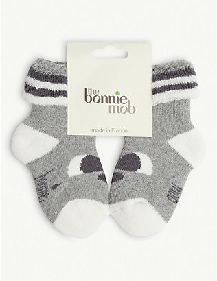 BONNIE MOB: Panda stretch cotton-blend baby socks 0-24 months