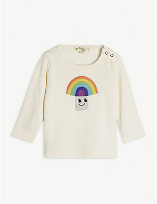 BONNIE MOB: Rainbow organic cotton long sleeve T-shirt 3-24 months