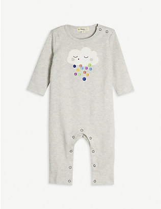 BONNIE MOB: Cloud organic cotton sleepsuit 0-18 months