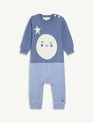 BONNIE MOB: Moon cotton-blend baby grow 3-18 months