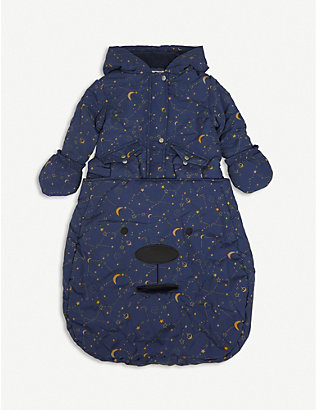 BONNIE MOB: Cosmos abstract-print woven pramsuit 0-18 months