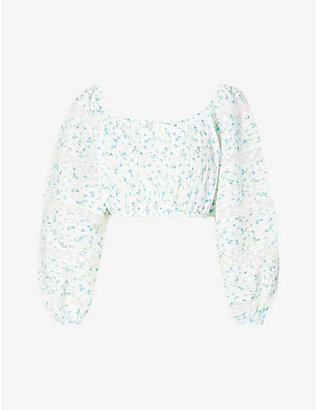 LOVESHACKFANCY: Albertina floral-print cotton top