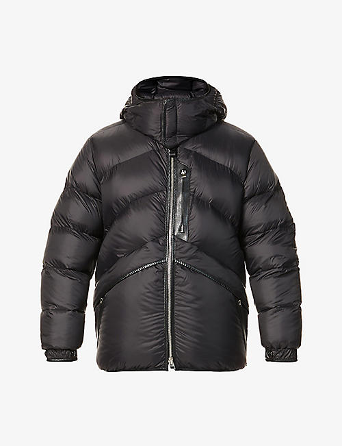 TOM FORD: Hooded funnel-neck shell-down bomber jacket