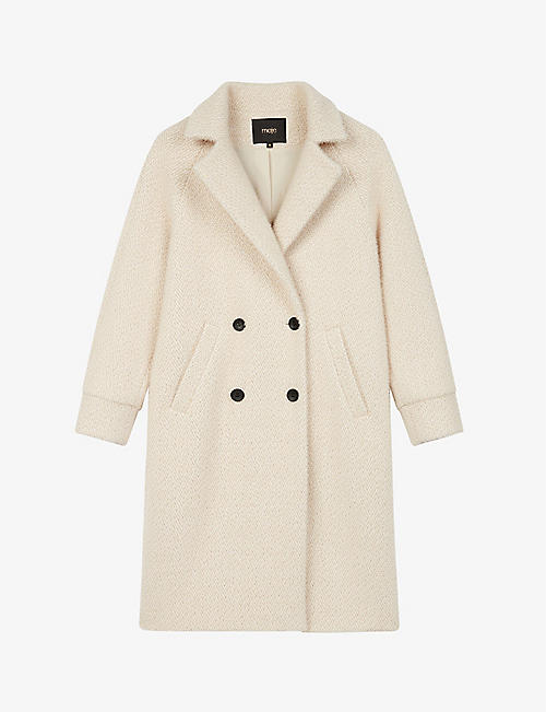 MAJE: Gabyna double-breasted woven coat