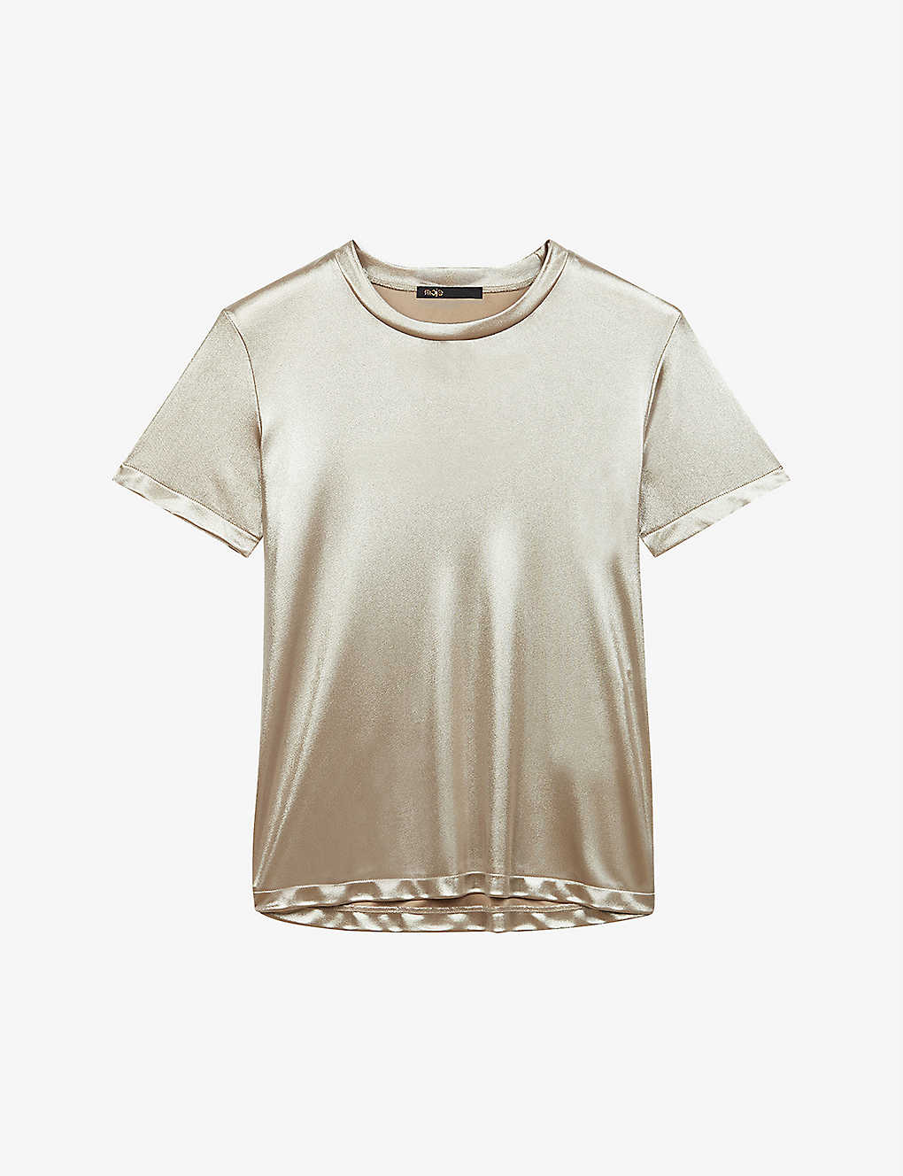 MAJE: Tolex relaxed-fit metallic T-shirt