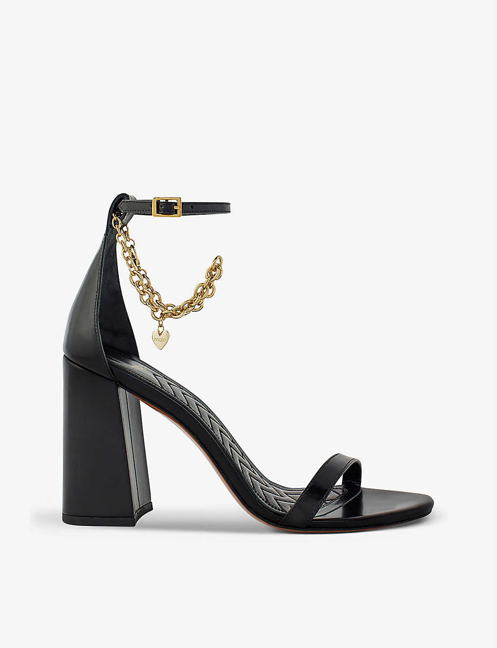 MAJE: Fever chain-embellished leather sandals