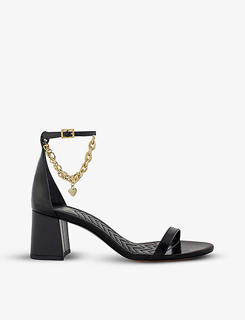 MAJE: Feverlow leather heeled sandals