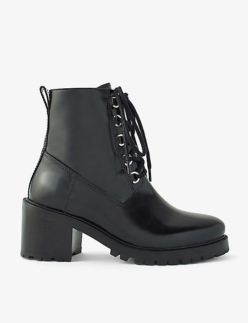 MAJE: Factory heeled leather ankle boots
