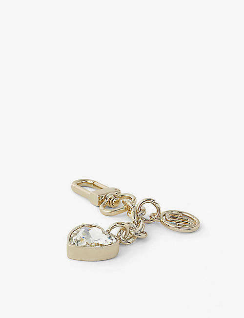 MAJE: Beaded double-m gold-plated metal key ring