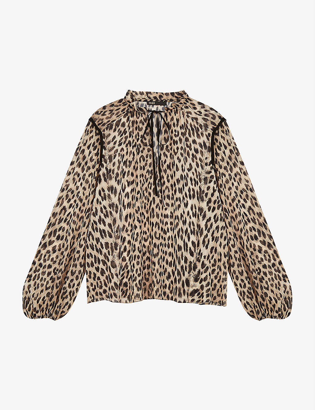 MAJE: Leopard-print recycled-polyester top
