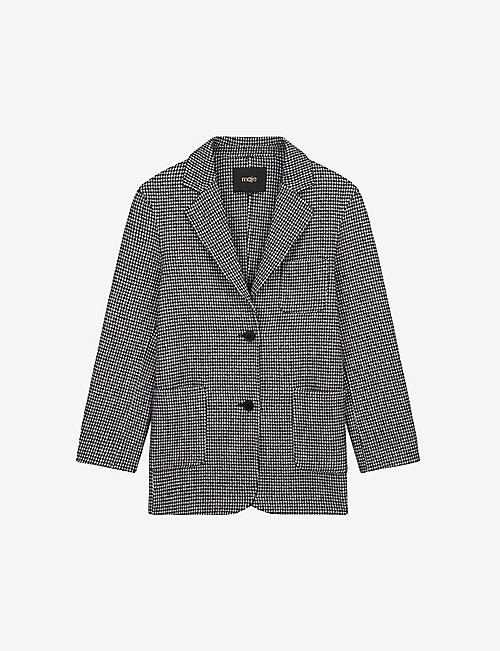 MAJE: Gariona single-breasted wool-blend blazer