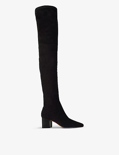 MAJE: Faena suede over-the-knee heeled boots