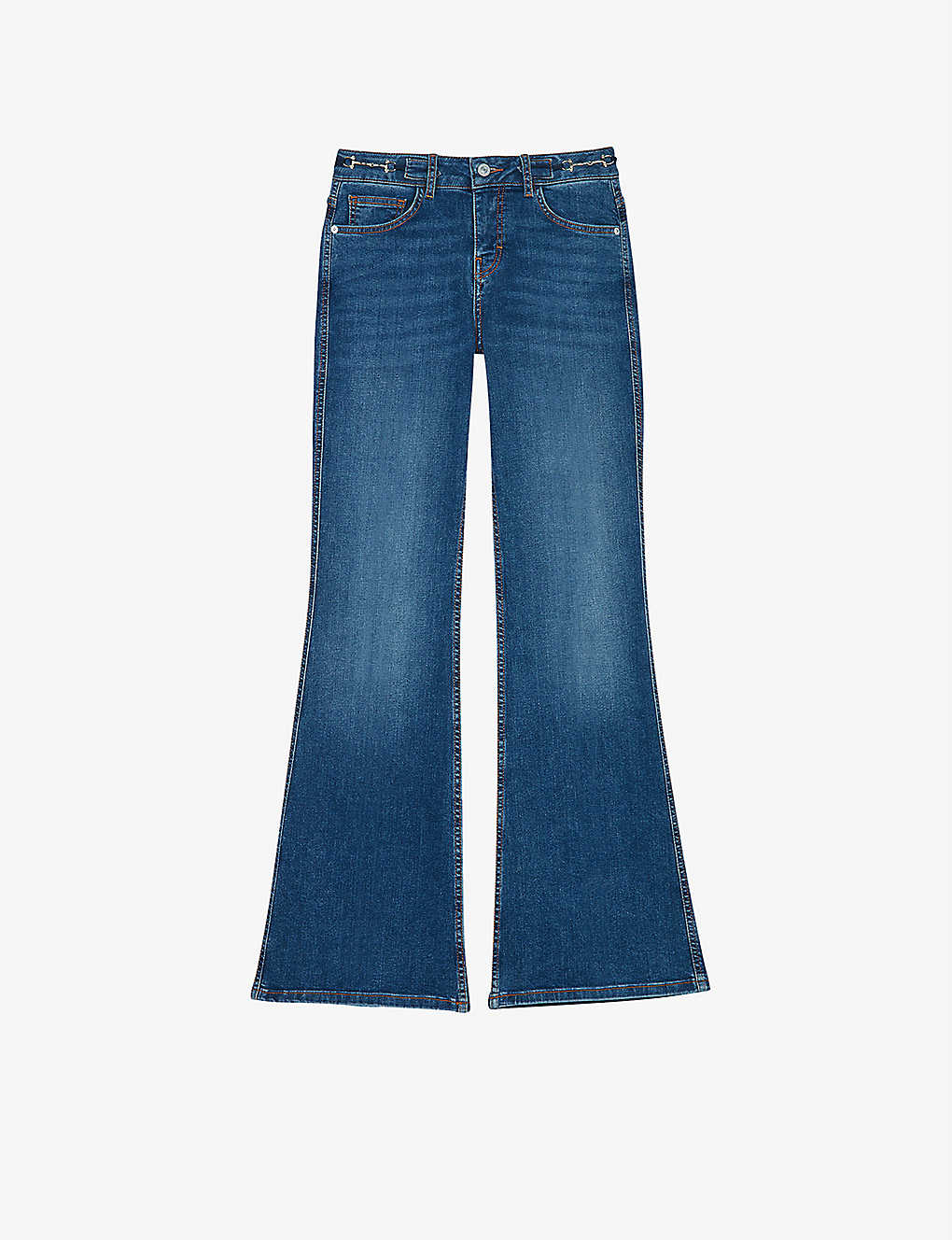 MAJE: Prame flared jeans with horsebit detail