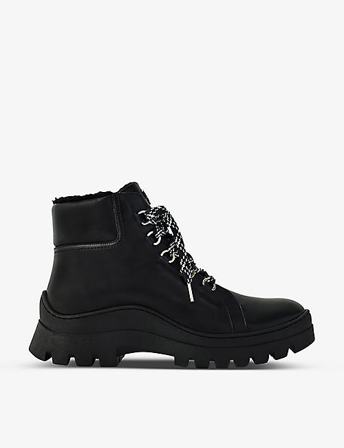 MAJE: Fuji lace-up leather ankle boots