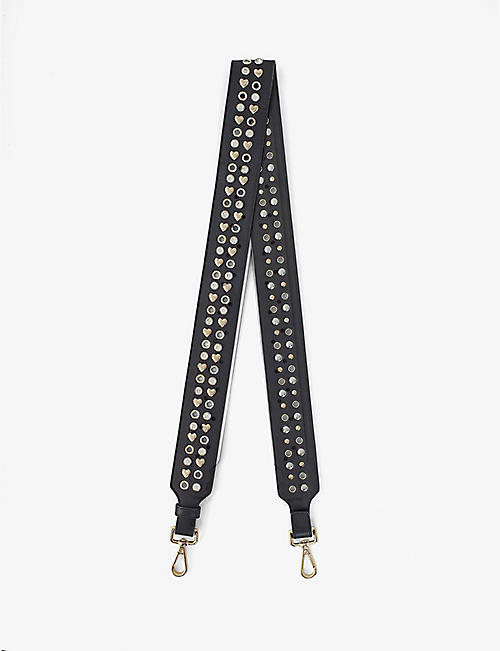 MAJE: Stud-embellished leather belt