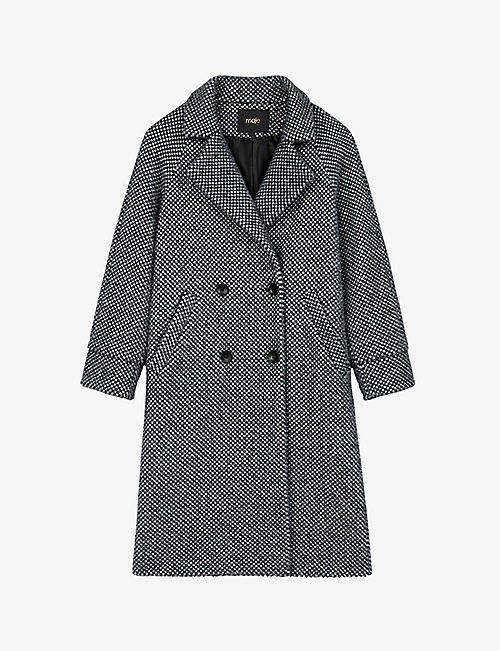 MAJE: Gabyne double-breasted wool-blend coat